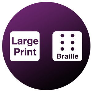 Large and Braille Print Icon